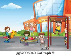 School Playground Clip Art.