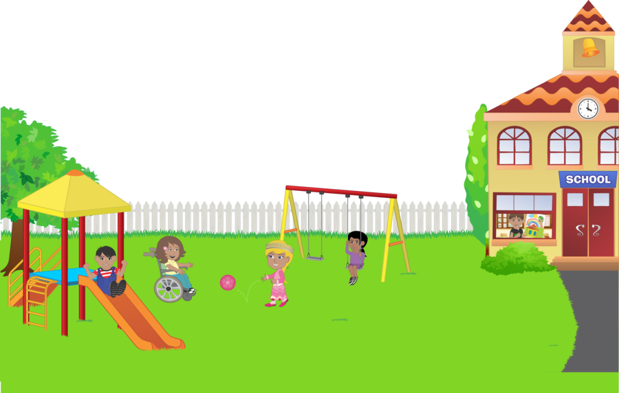 Playground Cartoon clipart.