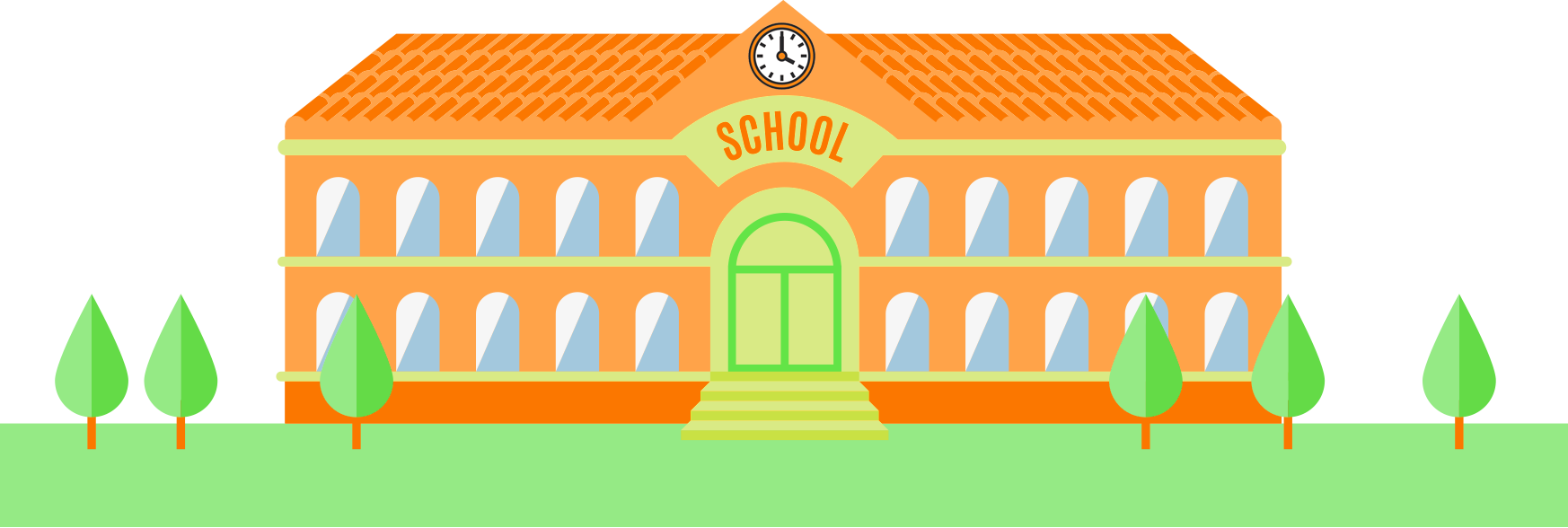 School PNG Transparent Images.