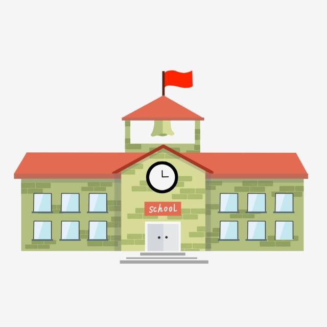 Cartoon School, Cartoon, School, Flag PNG Transparent.