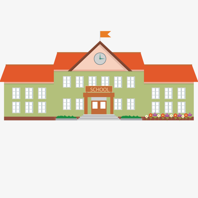 Flat School, School, Building, House PNG #53805.