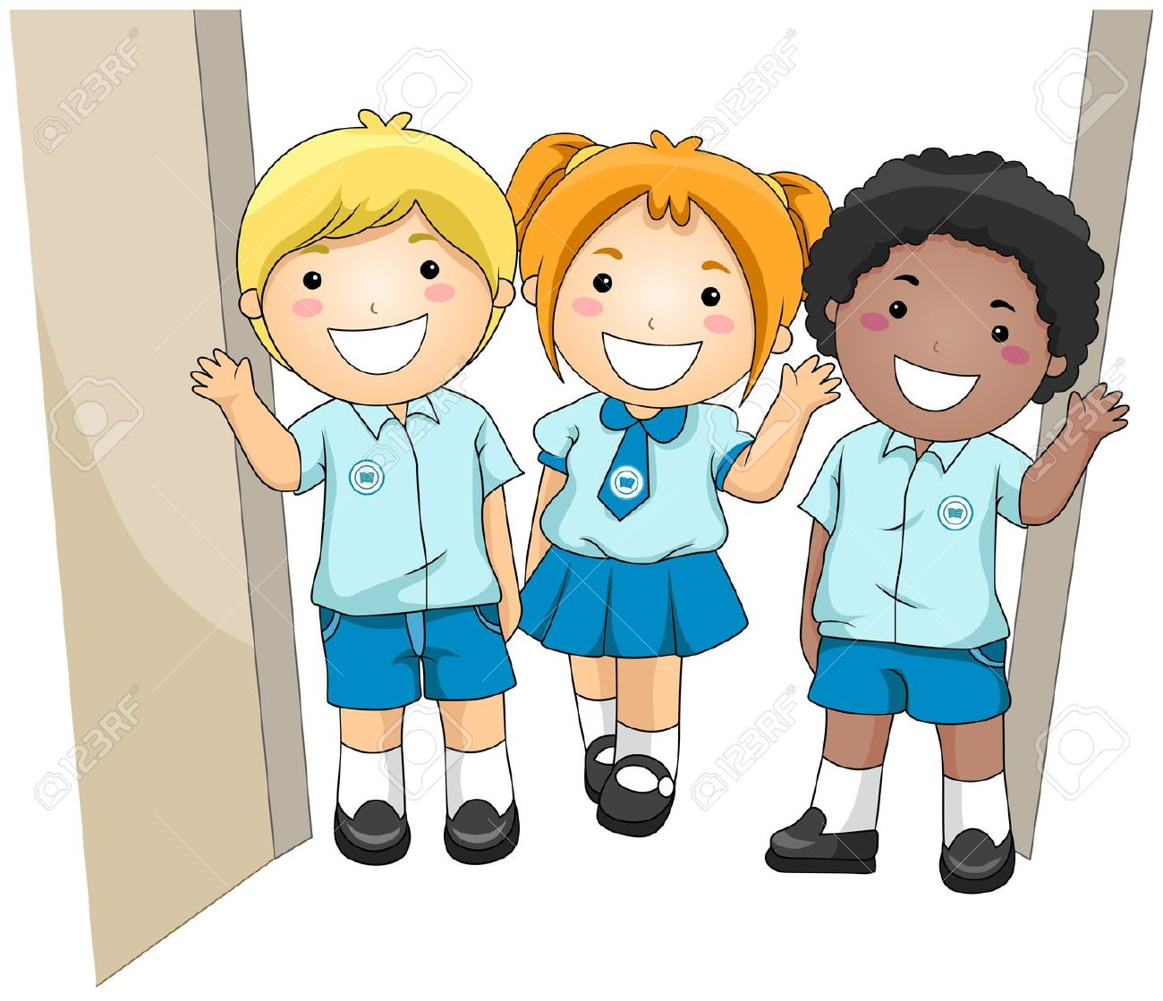Clipart Of Pupils In School.