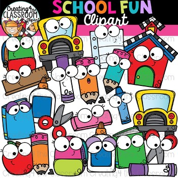 School Clipart Friends {Back to School Clipart}.