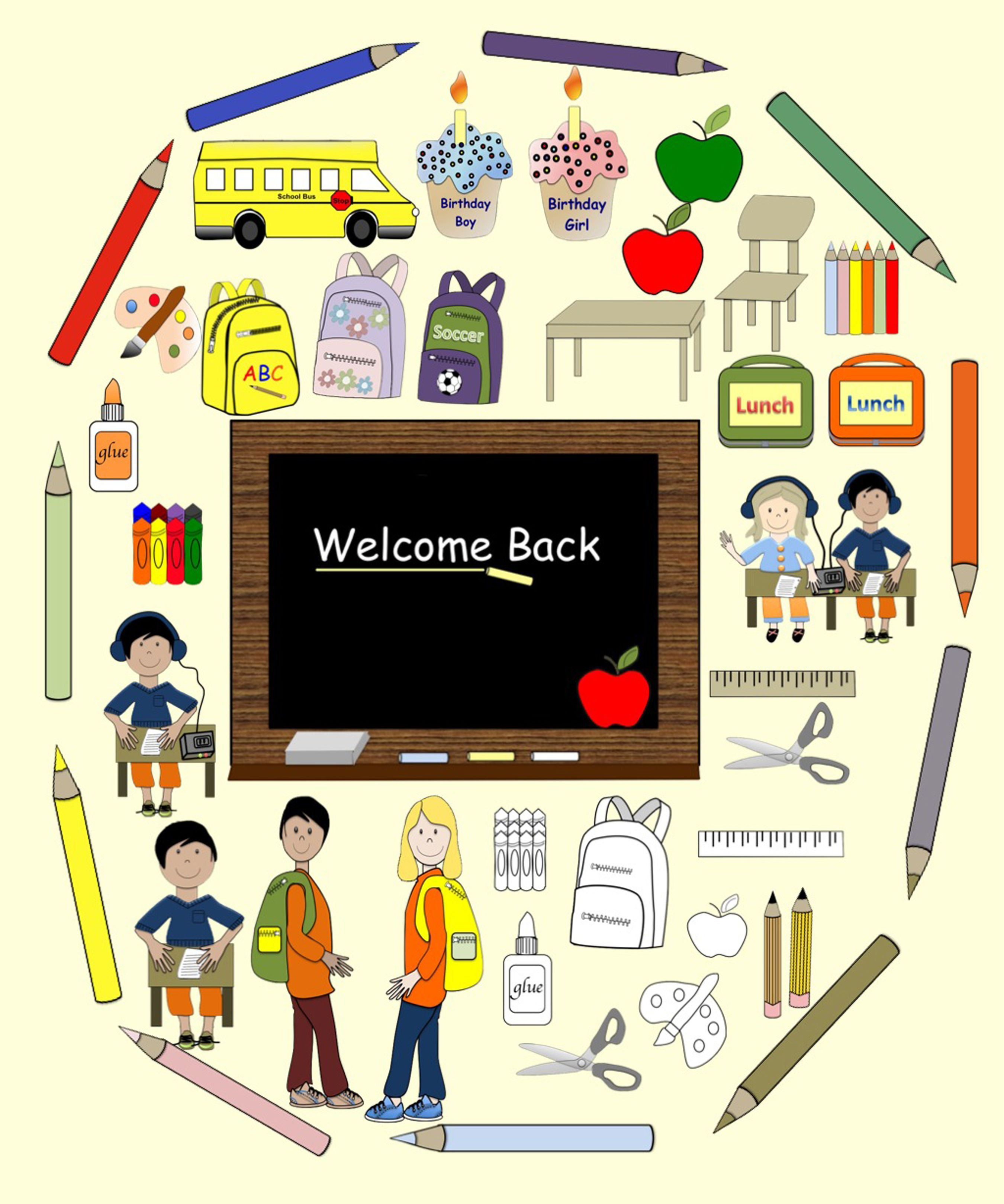 33 Back to School Clip Art in PNG format.
