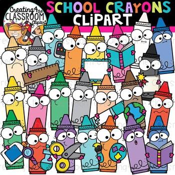 School Crayons Clipart {School Clipart}.