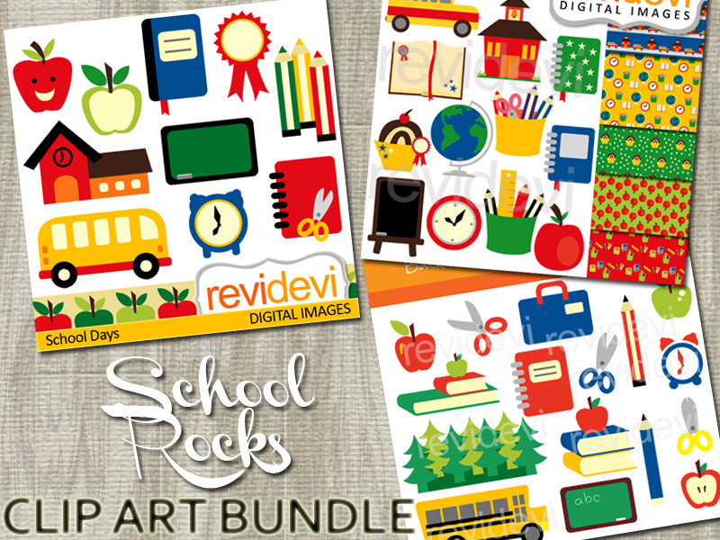 Back to school clip art bundle.