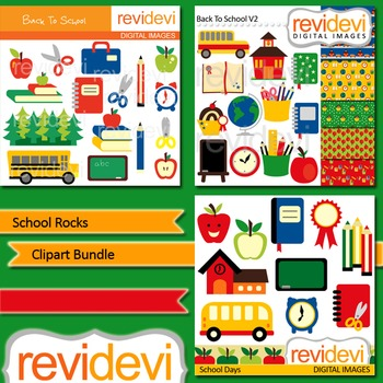 School Rocks Clip art (3 packs) by revidevi.