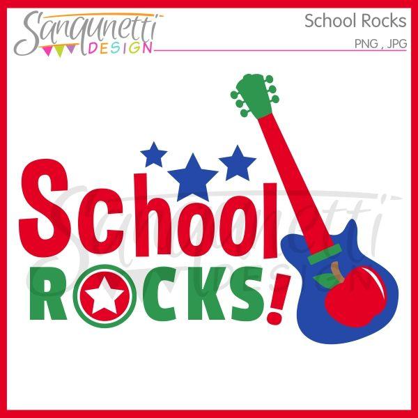 Sanqunetti Design: School Rocks Clipart.