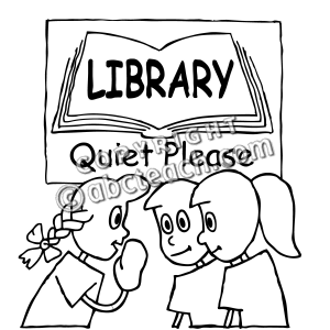 Black And White Cartoon Library Pictures to Pin on Pinterest.