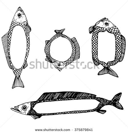 School Of Salmon Stock Photos, Royalty.