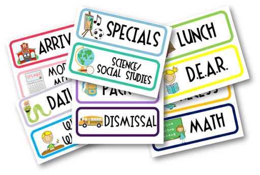 School Schedule Clipart #1.