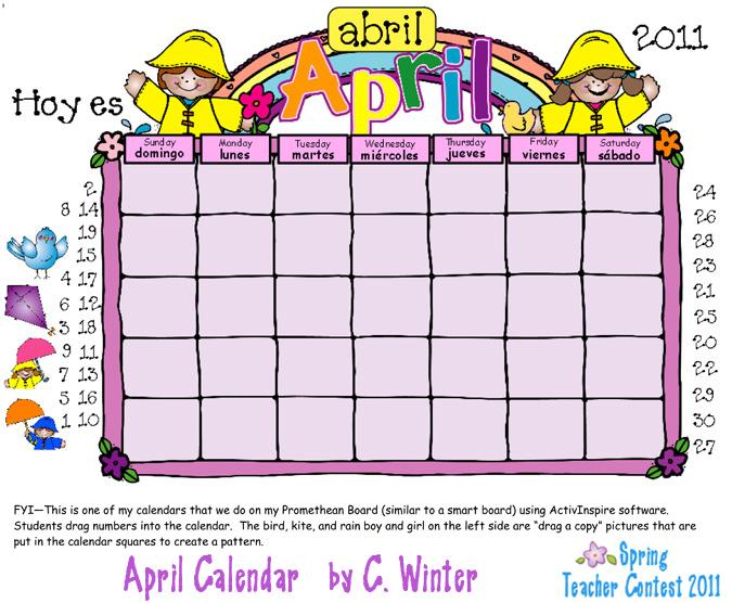 School Schedule Clipart In Spanish.