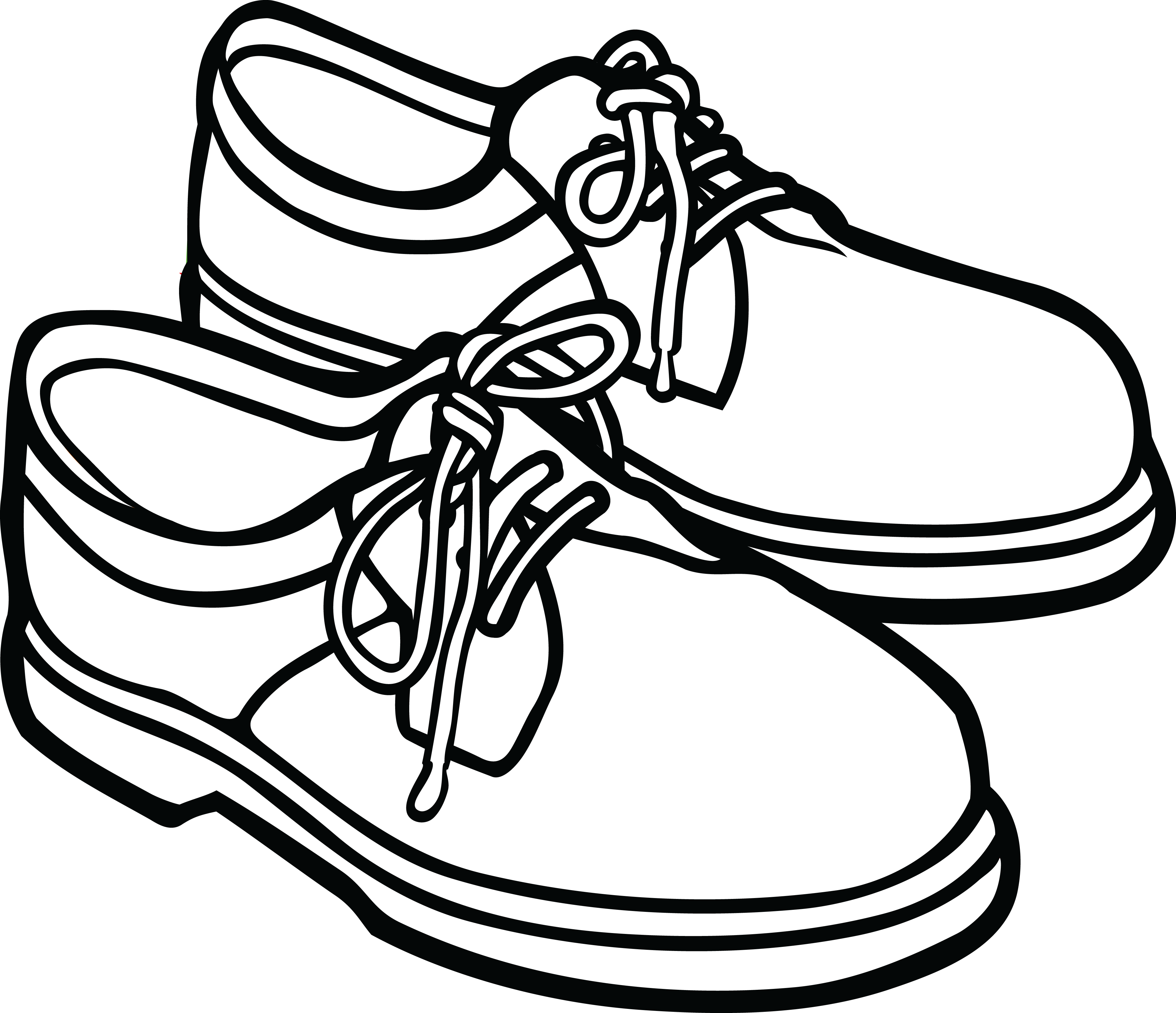 School shoes clipart black and white 4 » Clipart Station.
