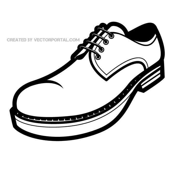 Shoe Graphics Free Vector.