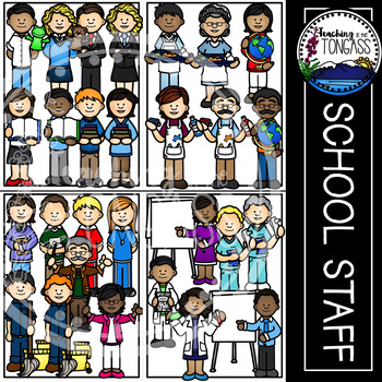 School Staff Teacher Clipart MEGA Set by Teaching in the Tongass.
