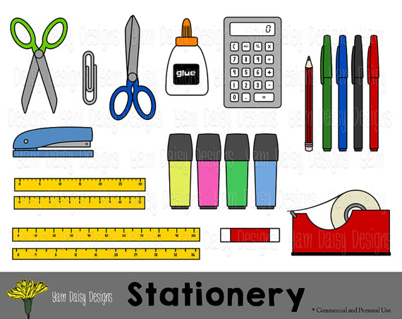 Stationery shop clipart.