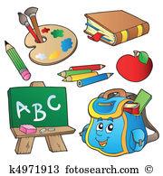 School stationery Clip Art Illustrations. 12,067 school stationery.