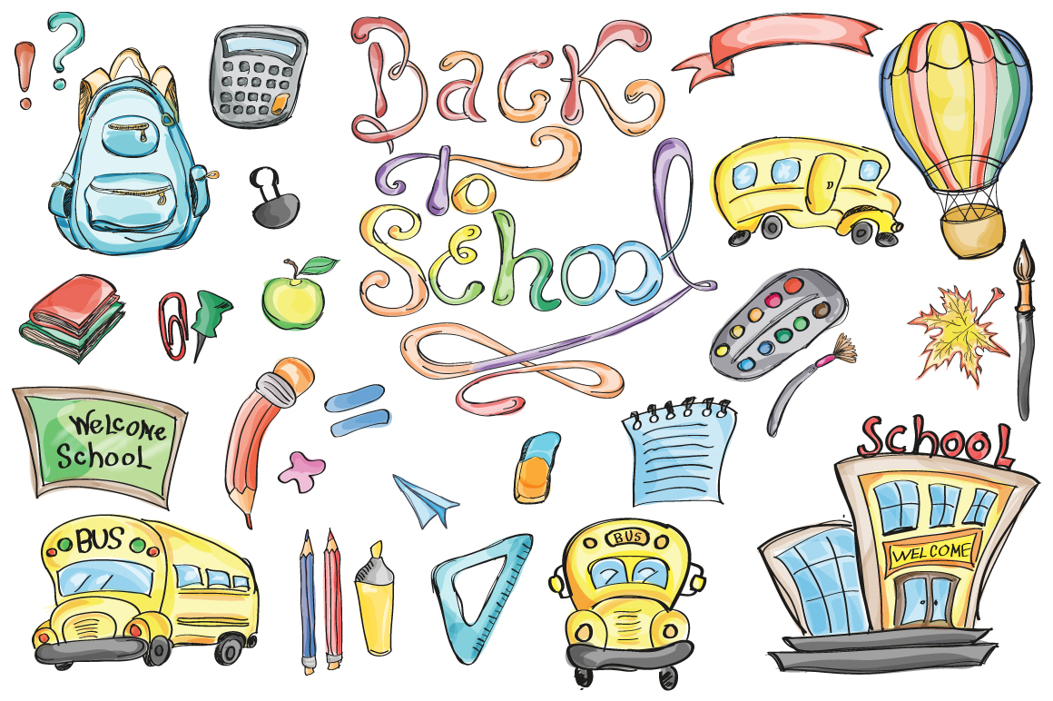 Back to School Set Clipart & Vector in Creative Store on.