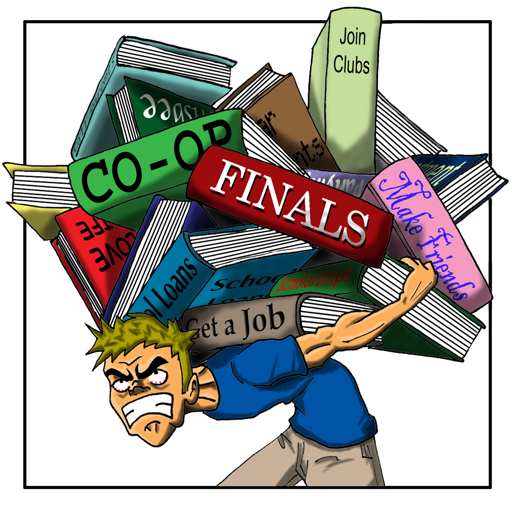 School Stress Clipart.