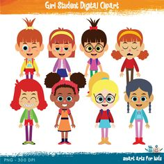 Boy Student Digital Clipart, school clipart, back to school.
