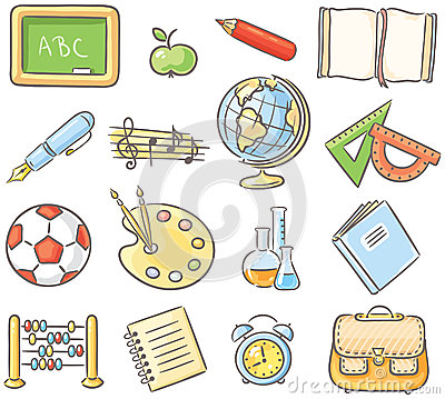 Different School Subject Clipart.