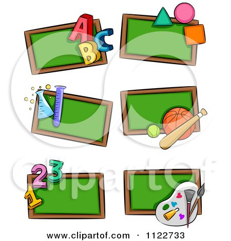 Similiar School Subjects Clip Art Black And White Keywords.