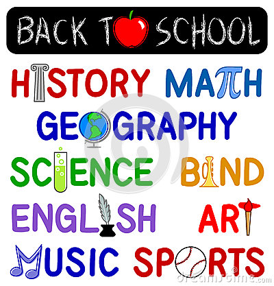 School Subject Clip Art.