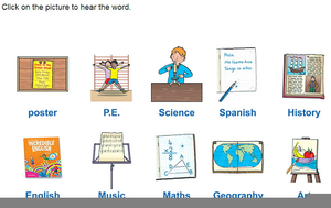 Clipart Pictures School Subjects.