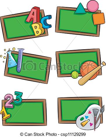 School Subjects Icons.