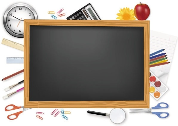 school supplies background clipart #18