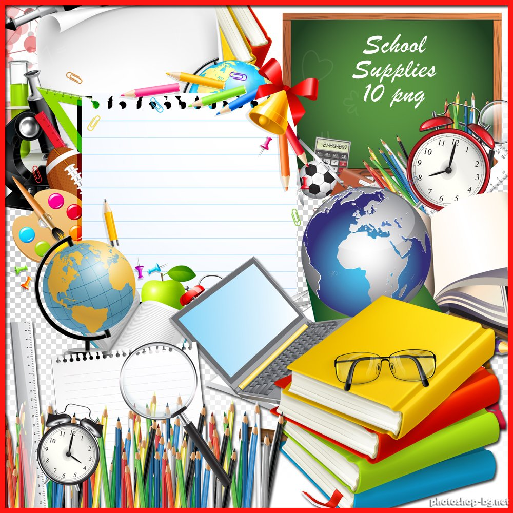 School Supplies Background Clipart Free Clipart Images.