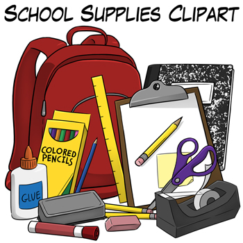 School Supplies Clip Art by Digital Classroom Clipart.