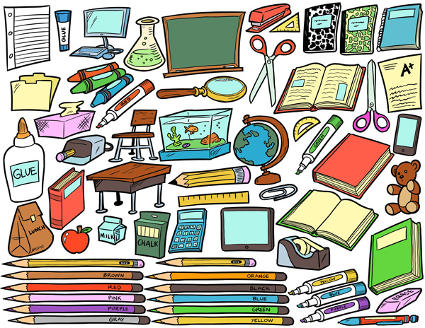 School supplies clip art clipart.