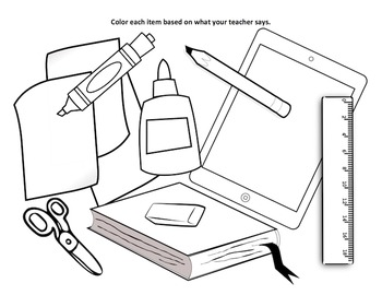 School Supplies Clipart Black And White (94+ images in.
