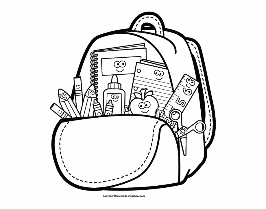 Backpack Clipart School Supply.