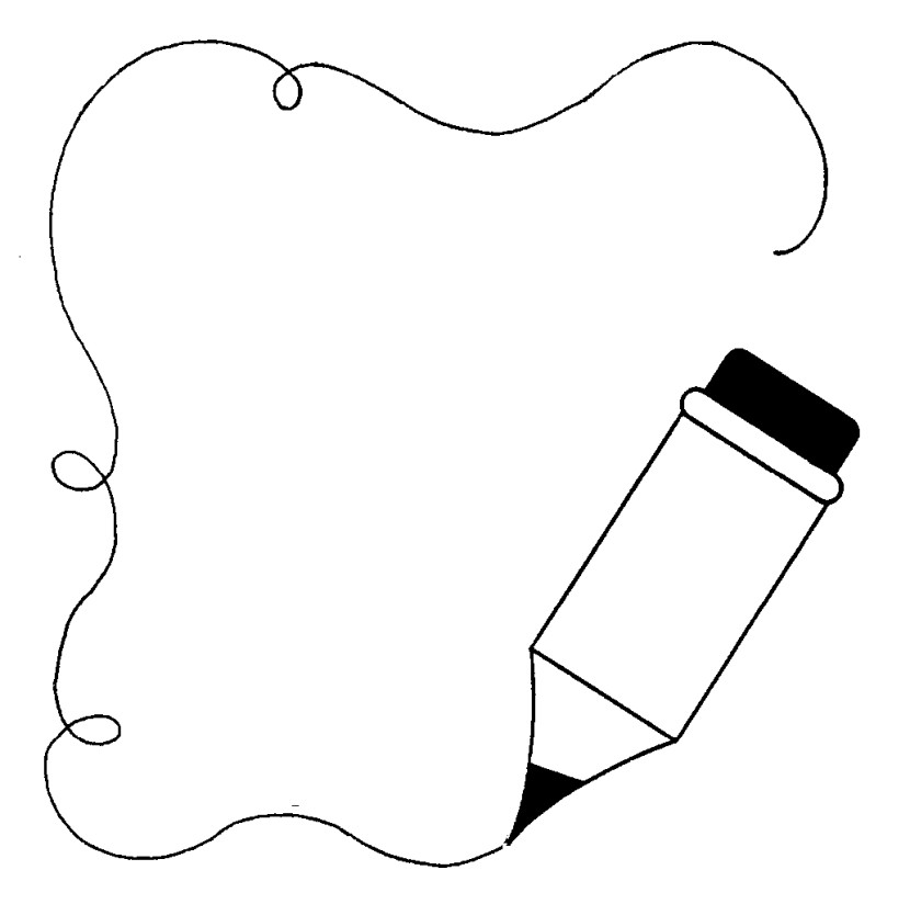 School Outline Clipart Black and White.