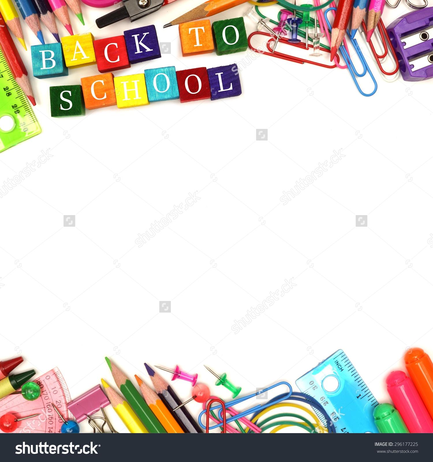 English High School Supplies Clipart.
