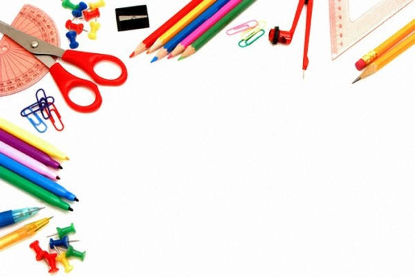 School Supplies Border Clipart.