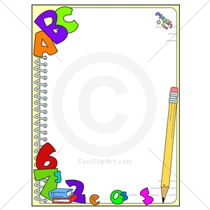 School Supplies Clipart Border.
