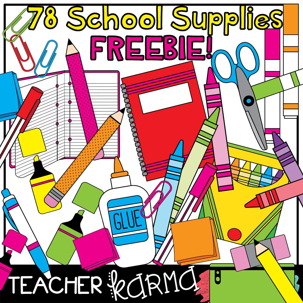 FREE Clipart for Teachers! 78 Pieces!! — Teacher KARMA.