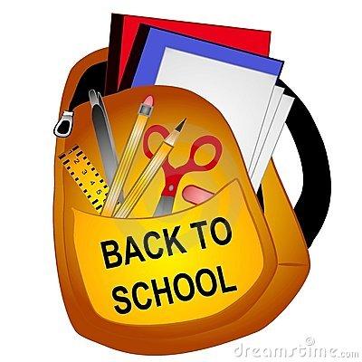 School Supplies Clip Art 2 Stock Photo.