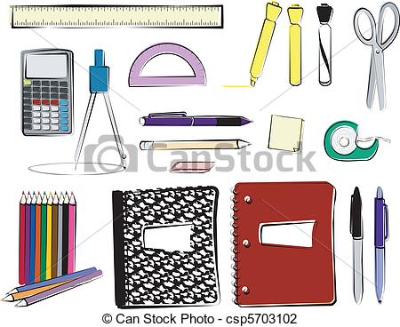 School supplies Illustrations and Clipart. 27,874 School supplies.