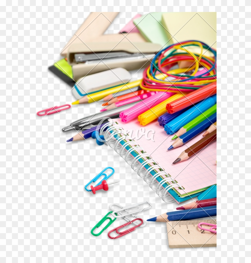 School Supplies Transparent Background.