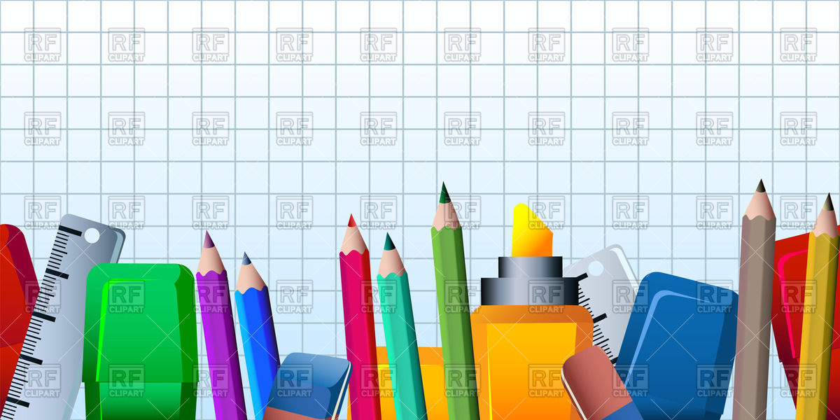 School Supply Circle Clipart.