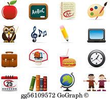 School Symbols Clip Art.