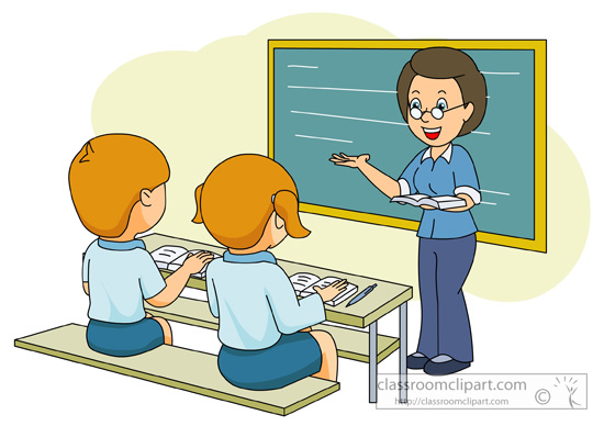 Indian school teacher clipart.