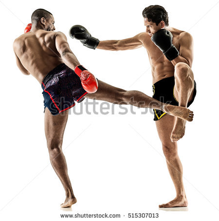 Kickboxing Stock Images, Royalty.