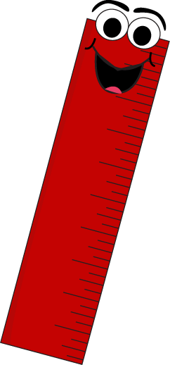 Red Cartoon Ruler Clip Art.