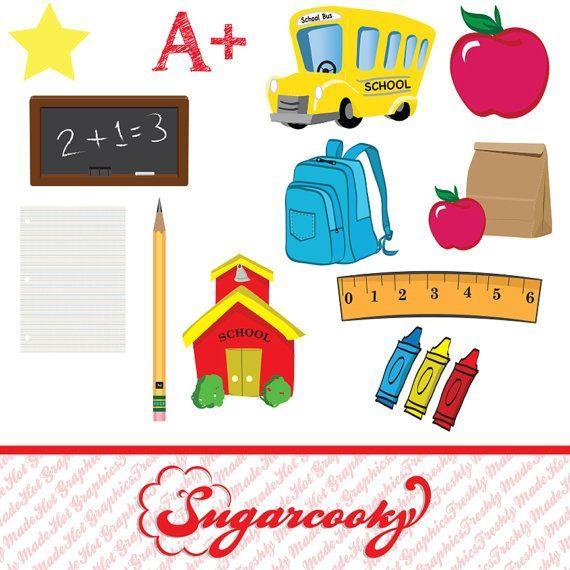 School themed clipart » Clipart Portal.