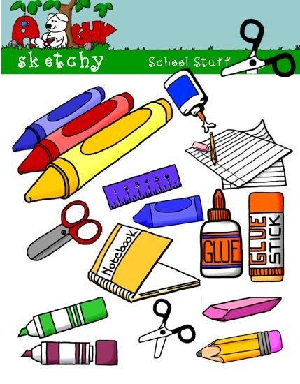 School Supply Themed Clip art/Graphics.